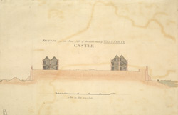 Section of the Line AB of the middle ward of Elizabeth Castle